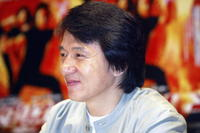Jackie Chan at a Tokyo press conference to promote his movie