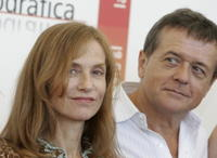 Isabelle Huppert and Patrice Chereau at the photocall of
