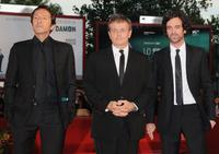Jean Hugues Anglade, Patrice Chereau and Romain Duris at the premiere of