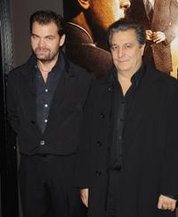 Clovis Cornillac and Christian Clavier at the Paris premiere of