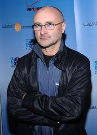 Phil Collins at the Grammy Foundation announcement of a new partnership with Verizon.