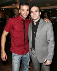 Jai Rodriguez and Mario Cantone at the 2009 Broadway Backwards after party.