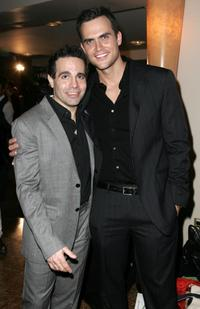 Mario Cantone and Cheyenne Jackson at the 2009 Broadway Backwards after party.