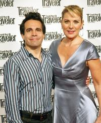 Mario Cantone and Kim Cattrall at the 2009 Broadway Backwards after party.