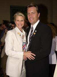 Peter Cook and his wife Christie Brinkley at the reception held by the Creative Coalition.