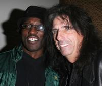 Wesley Snipes and Alice Cooper at the LA Confidential party, to celebrate Oscar nominee Jamie Foxx.