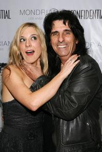 Calico Cooper and Alice Cooper at the LA Confidential Magazine's Annual Oscar Party.