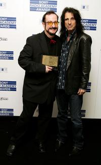 Steve Wright and Alice Cooper at the Sony Radio Academy Awards.