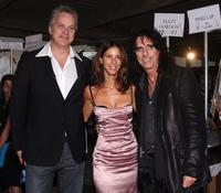 Tim Robbins, Joyce Varvatos and Alice Cooper at the John Varvatos 2008 Fashion Show during the Mercedes-Benz Fashion Week Spring 2008.