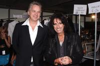 Tim Robbins and Alice Cooper at the John Varvatos 2008 Fashion Show during the Mercedes-Benz Fashion Week Spring 2008.
