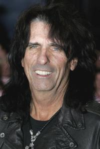 Alice Cooper at the Gala Dinner of the Northern Rock All Star Cup.