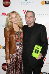 Eloise Broady and John Paul DeJoria at the Leeza Gibbons' Dare2Care Pre-Oscar Cocktail party in California.