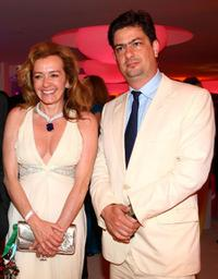 Caroline Gruosi-Scheufele and Roman Coppola at the 62nd International Cannes Film Festival.
