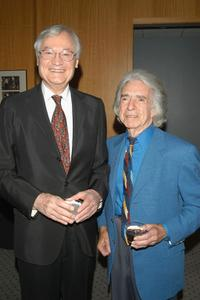 Roger Corman and Arthur Hiller at the pre-screening cocktail party for the Israel Film Festival Premiere Screening of