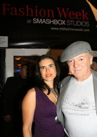 Jane Marks and Bud Cort at the Mercedes Benz Fashion Week.