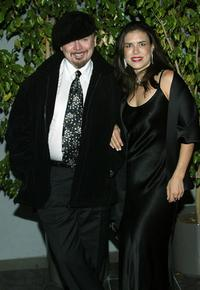 Bud Cort and god neice Jade Marks at the premiere of