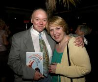 Bud Cort and Dorian Hannaway at the launch party for the novel