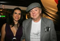 Bud Cort and Jane Marks at the Mercedes Benz Fashion Week.