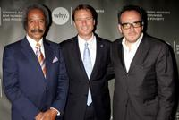 Allen Toussaint, John Edwards and Elvis Costello at the World Hunger Year's event.