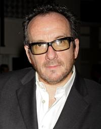 Elvis Costello at the World Hunger Year's event.