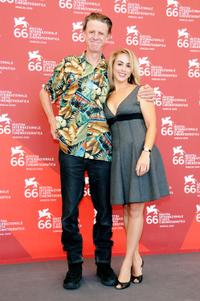 Alex Cox and Jaclyn Jonet at the photocall of