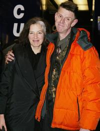 Alex Cox and Guest at the UK premiere of