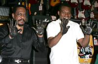 Ike Turner and Robert Cray at the Hollywood Rock Walk Induction.