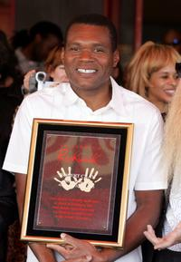 Robert Cray at the Hollywood Rock Walk Induction.