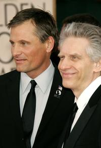 David Cronenberg and Viggo Mortensen at the 63rd Annual Golden Globe Awards.
