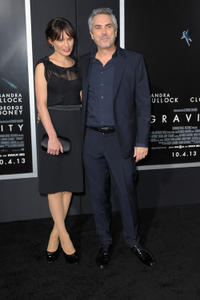 Alfonso Cuaron and guest at the New York premiere of