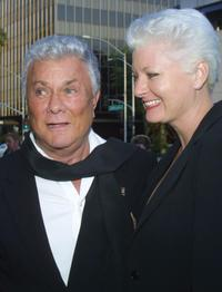 Tony Curtis and his wife Jill at the Academy of Motion Pictures Arts and Sciences Theater.