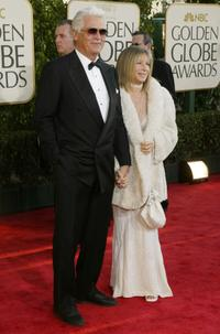 James Brolin and Barbra Streisand at the 61st Annual Golden Globe Awards.