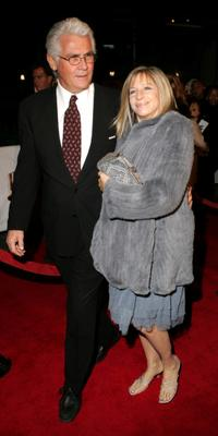 James Brolin and actress-wife Barbra Streisand at the premiere of