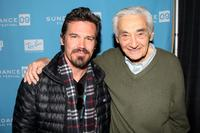 Josh Brolin and Howard Zinn at the 2009 Sundance Music Festival.