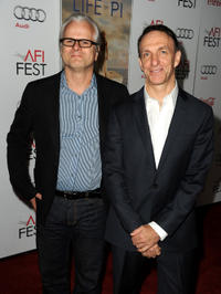 Cinematographer Claudio Miranda and Mychael Danna at the premiere of