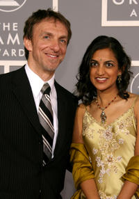 Mychael Danna and Aparna at the 49th Annual Grammy Awards in California.