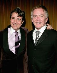Gary Beach and Daniel Davis at the after party of the opening night of