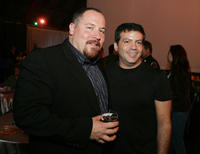 Director Jon Favreau and Michael De Luca at the after party of the premiere of