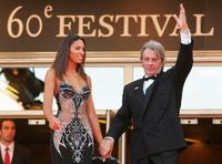 Alain Delon and Bianca di Sofia at the 60th International Cannes Film Festival premiere of Chacun Son Cinema.