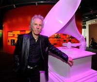 John Densmore at the museum's ribbon cutting ceremony.