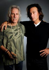 John Densmore and Tom DiCillo at the Hollywood Life House.