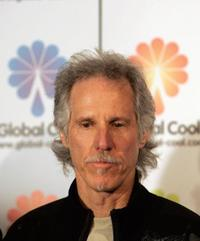John Densmore at the press conference in the Roxy Theater.