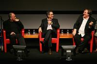 Gerard Depardieu and Bernardo Bertolucci at the 2nd Rome Film Festival.