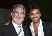 Placido Domingo and Eugenio Derbez at the world premiere of