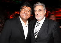 George Lopez and Placido Domingo at the world premiere of
