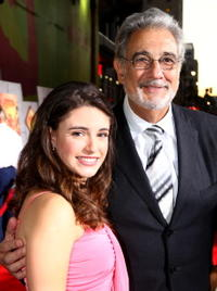 Daniela Bobadilla and Placido Domingo at the world premiere of