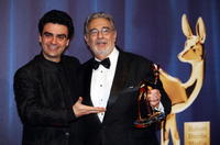 Rolando Villazon and Placido Domingo at the Bambi Awards 2008.