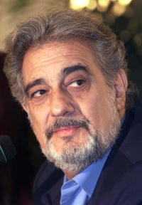 Placido Domingo at the first presentation of Giacomo Puccini's