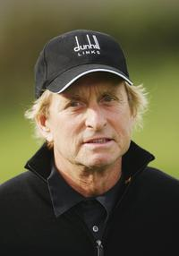 Michael Douglas at The Alfred Dunhill Links Championship at Carnoustie Colf Club.