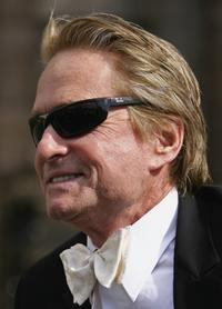 Michael Douglas at St Andrews University where he receives a honorary degree.